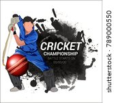 cricket championship  playing... | Shutterstock .eps vector #789000550