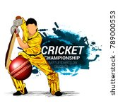 cricket championship  playing... | Shutterstock .eps vector #789000553