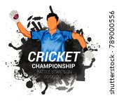 cricket championship  playing... | Shutterstock .eps vector #789000556