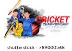 cricket championship  playing... | Shutterstock .eps vector #789000568