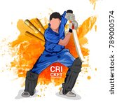 cricket championship  playing... | Shutterstock .eps vector #789000574