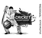 cricket championship  playing... | Shutterstock .eps vector #789000586