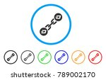 dash blockchain rounded icon.... | Shutterstock .eps vector #789002170
