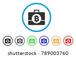 bitcoin business case rounded...   Shutterstock .eps vector #789003760