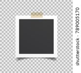 empty frame of photo with... | Shutterstock .eps vector #789005170
