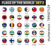 all flags of the world set 3 .... | Shutterstock .eps vector #789007129