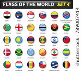 all flags of the world set 4 .... | Shutterstock .eps vector #789007414