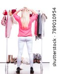 young woman standing in... | Shutterstock . vector #789010954