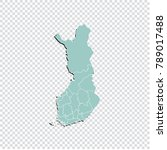 finland map   high detailed... | Shutterstock .eps vector #789017488