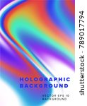 holographic vaporwave... | Shutterstock .eps vector #789017794