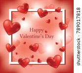 happy valentine's day greeting... | Shutterstock .eps vector #789017818