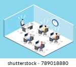isometric flat 3d isolated... | Shutterstock .eps vector #789018880