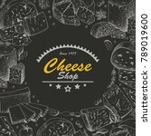 vector background with cheese... | Shutterstock .eps vector #789019600