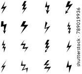 lightning icon set | Shutterstock .eps vector #789019936