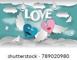 love invitation card valentine...   Shutterstock .eps vector #789020980