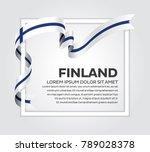 finland flag background