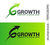 growth   stylish letter g arrow ... | Shutterstock .eps vector #789028390