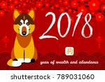 happy new year  2018  chinese... | Shutterstock .eps vector #789031060