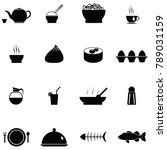 chinese food icon set | Shutterstock .eps vector #789031159