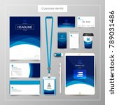 corporate identity template... | Shutterstock .eps vector #789031486