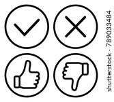 set of buttons  outline design. ... | Shutterstock .eps vector #789033484
