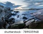 small bay in helleviga... | Shutterstock . vector #789035968