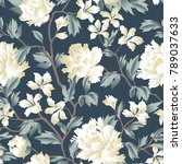 floral seamless pattern.... | Shutterstock .eps vector #789037633