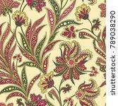floral pattern. flourish tiled... | Shutterstock .eps vector #789038290
