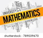 mathematics word cloud collage  ... | Shutterstock . vector #789039670