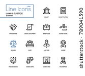 law and justice   line design... | Shutterstock .eps vector #789041590