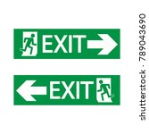 Emergency Exit Sign Vector Icon.
