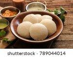 idli with sambar chutney  ...
