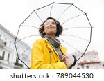 view from beneath of positive... | Shutterstock . vector #789044530