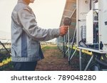 solar power plant to innovation ... | Shutterstock . vector #789048280