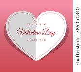 vector background valentines day | Shutterstock .eps vector #789051340