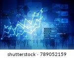 2d rendering stock market... | Shutterstock . vector #789052159