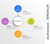 circle infographic design four... | Shutterstock .eps vector #789054139