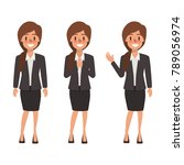 woman character in different... | Shutterstock .eps vector #789056974
