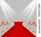 illustration of white round... | Shutterstock . vector #789057064