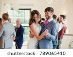 newly wed couple are dancing... | Shutterstock . vector #789065410
