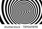 black and white hypnotic spiral.... | Shutterstock . vector #789069898