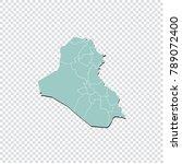 iraq map   high detailed pastel ... | Shutterstock .eps vector #789072400