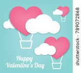 vector illustration valentine's ... | Shutterstock .eps vector #789072868