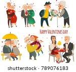 set of happy couples in love  ... | Shutterstock .eps vector #789076183