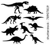 dinosaur silhouette prehistoric ... | Shutterstock .eps vector #78907819