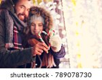 picture showing young couple... | Shutterstock . vector #789078730