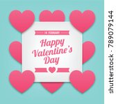 happy valentine's day with... | Shutterstock .eps vector #789079144