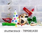 purim carnival celebration set. ... | Shutterstock . vector #789081430