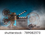 old style movie projector ... | Shutterstock . vector #789082573