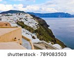 view of traditonal greek houses ... | Shutterstock . vector #789083503